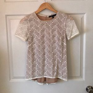 BCBG lace short sleeved top